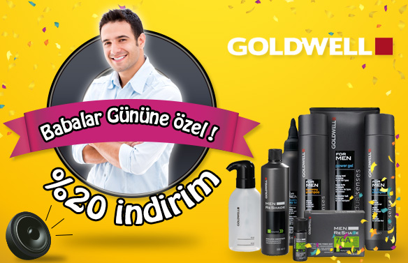 Goldwell For Men ve Men Reshade %20 İndirim!